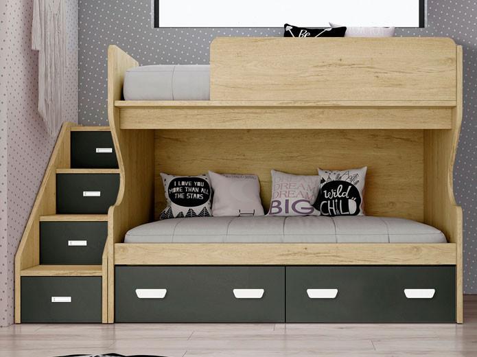 Dormitorio Modelo Rústico Básico 1