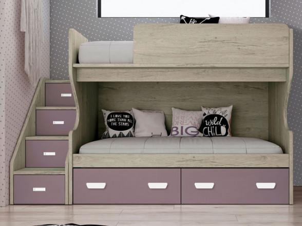 Dormitorio Modelo Rústico Básico 3