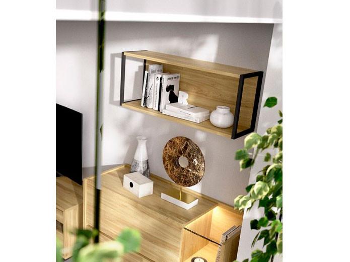 Dormitorio moderno de madera estilo moderno muebles valencia for Dormitorios madera modernos
