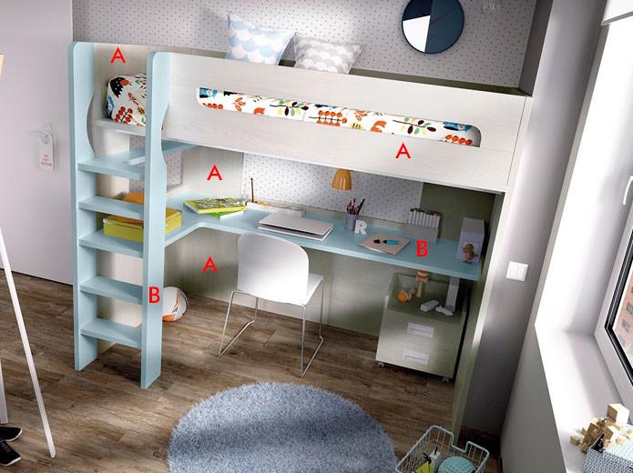 Dormitorio Juvenil Moderno 126