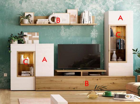 Mesa TV Modelo Rústico Moderno 1