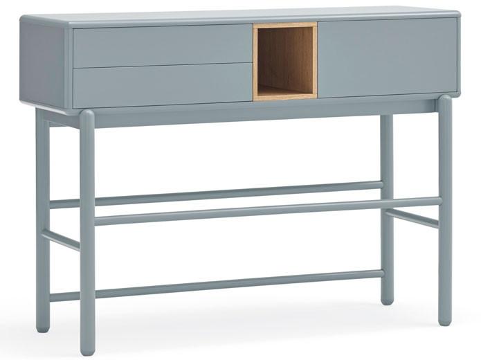 Sofá biplaza tapizado en color azul
