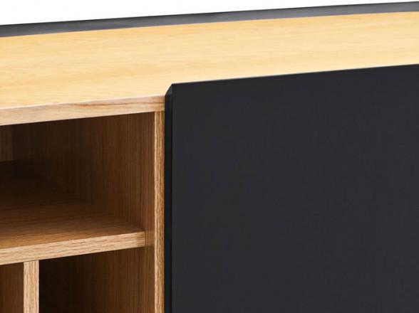Mesa de madera y aluminio para jardín