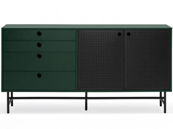 Mesa y sillas de acero para jardin