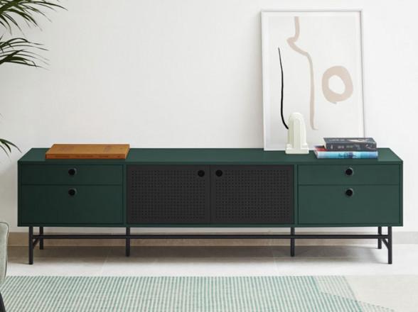 Mesa y sillas de acero para exterior