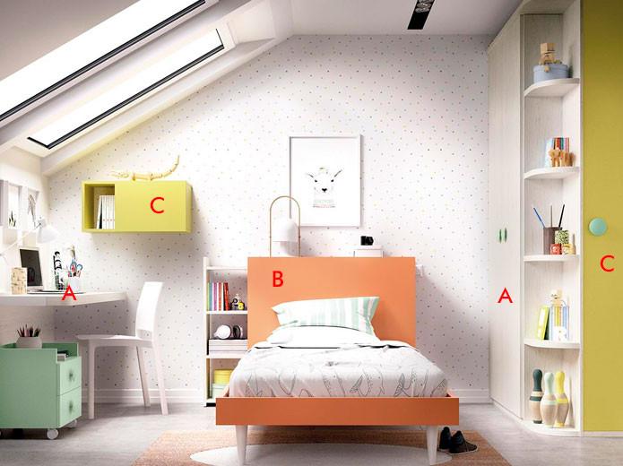 Dormitorio Juvenil Moderno 137