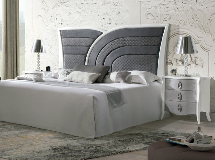 Conjunto espejo y mueble recibidor cl sico blanco muebles - Mueble clasico valencia ...