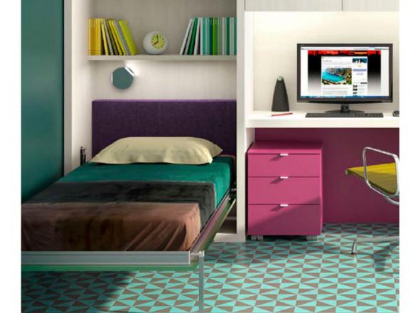 Habitación juvenil Moderna con literas