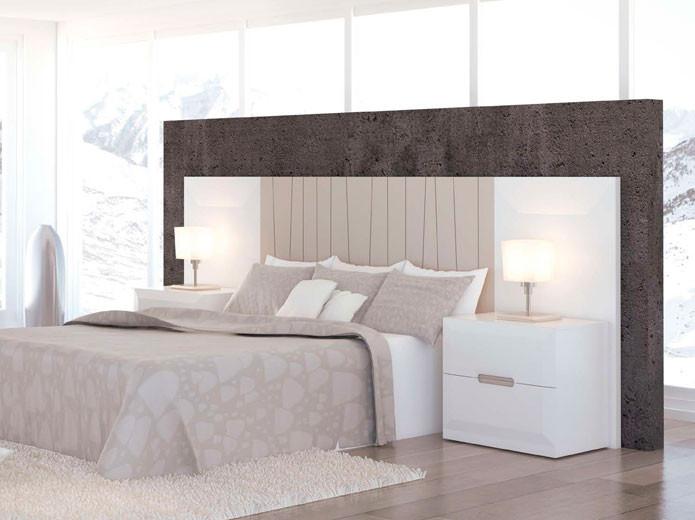 Conjunto Cabecero de cama y mesitas de noche