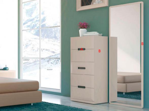 Cabecero y mesitas de noche para dormitorio clásico