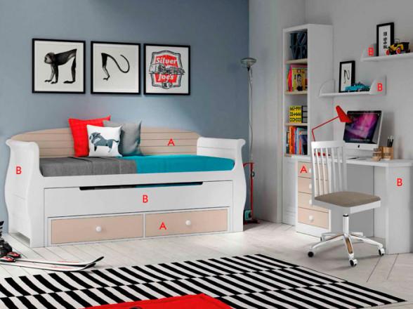 Habitación juvenil con Litera Juvenil 5 en Mostoles, Madrid