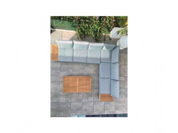 Mesa de centro clásica 20 partida fabricada en madera y metal