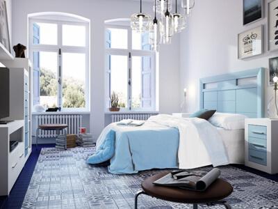 Colección de dormitorios de matrimonio, habitaciones de matrimonio y camas de matrimonio de Grupo Seys en Móstoles, Madrid