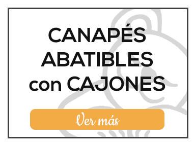 Canapés Abatibles con cajones de Milcolchones, en Muebles Valencia, tu tienda de colchones y muebles en Madrid