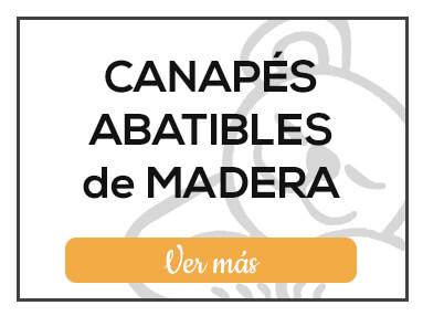 Canapés Abatibles de Madera de Milcolchones, en Muebles Valencia, tu tienda de colchones y muebles en Madrid