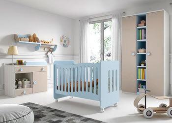 Dormitorios Infantiles y para bebé en Muebles Valencia, tu tienda de muebles en Madrid
